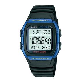 Relógio Casio W-96h-2av Azul Bateria 10anos Original W96
