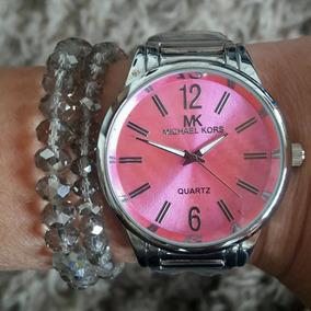 Relogio Mk 6062 Feminino Prata - Relógios De Pulso no Mercado Livre ... 55b0638e28