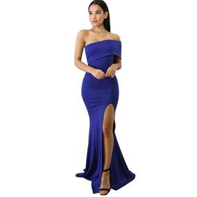 7561863f9 Vestidos Tejidos Para Bebes Strapless De Noche Mujer - Vestidos Azul ...