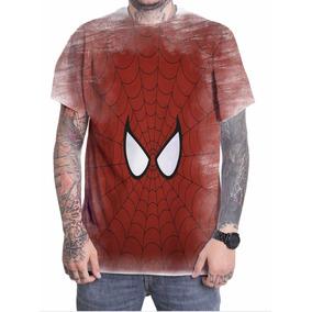 Camiseta Camisa Personalizada Spider Man Vingadores 3d 7e21ddf00134a