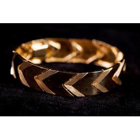Pulseira Bracelete 30,68g De Ouro 18k
