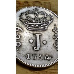 600 Reis 1755 - Moeda Feita De Cobre Banhada A Prata Réplica