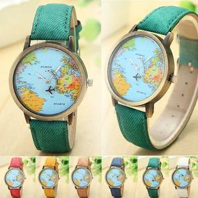 Reloj Mapa Mundo Mundi Avion Diana Moon