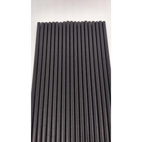 2000 Canudo De Papel Biodegradável 6mm Preto