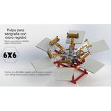 Planos Pulpo De Serigrafia 6x6 Con Microregistro