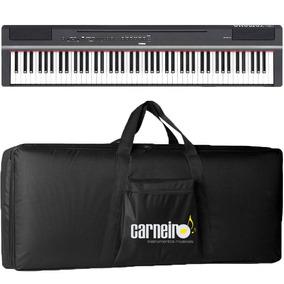 Piano Digital Yamaha P125 Preto + Fonte + Pedal + Capa Luxo