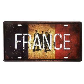 a4697e9fe0 Placa Decorativa Metal 30x15cm - França Bandeira Terno