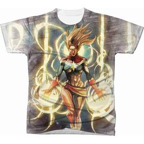 Camiseta Marvel Feminina - Camisetas Manga Curta no Mercado Livre Brasil df55000e689b5