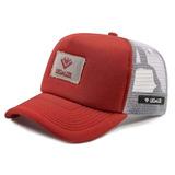 d1629f84984ed Boné Masculino Aba Curva Vermelho Trucker Snapback Legalize