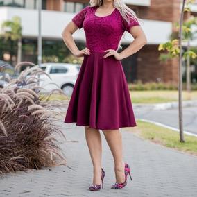 Vestido Renda + Cinto Moda Feminina Evangélica Pronta Entreg