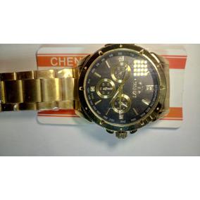 e2c3e101dce Relógio Chenxi De Luxo Analógico Dourado Original Novo
