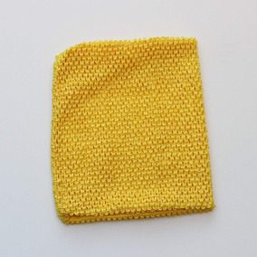 Yellow Crochet Tutu Top Lined 12 Inches X 10 Inches - Elasti c86c2db07ee