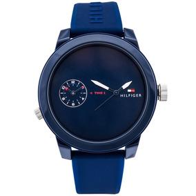 8c4bc93f927 Relógio Tommy Hilfiger Silicone Azul Masculino 1791023 - Relógios De ...