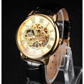 06bbf565241 Relogio Transparente Esqueleto Maquina Tecnologia - Relógios De ...