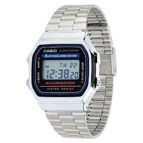 7b75945770d Relogio Casio A158wa 1 Retro Prata - Relógios no Mercado Livre Brasil