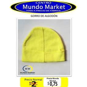 Mundo Market Ropa Bebe Paquete 2 Gorros Algodón Todo Color 64a9d42402c
