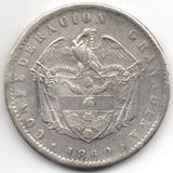 1 Peso 1860 Bogotá, Confederación Granadina Plata