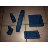 Juego De Baño Ferrum Color Azul - Accesorios para Baños en Mercado ... 84e53aaead40