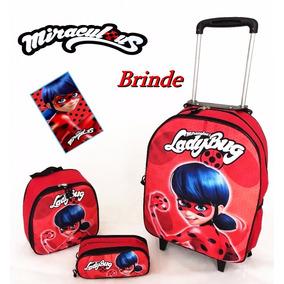 Mochila Miraculous Ladybug - Mochilas Escolares no Mercado Livre Brasil 26fc11fe12bae