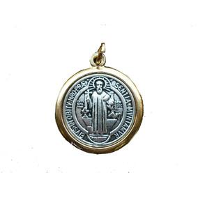 0e756b768e2 Medalla De San Benito En 7 Metales Vírgenes Proteccion en Mercado ...