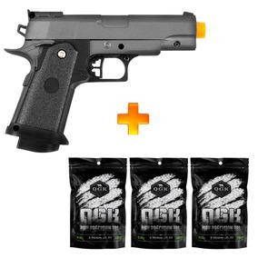 Pistola Airsoft Spring G10 Metal - Galaxy + 6000 Bbs 0.12g
