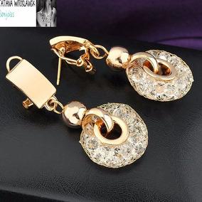 Sofisticados Brincos Cristais Swarovski P - Joias e Relógios no ... 3569bc5990