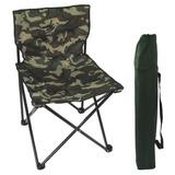Cadeira Pequena Dobrável Articulada Pesca Camping Camuflada
