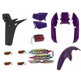 Kit Plásticos Carenagem Titan 99 Azul Roxo