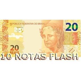 10 Burning Money - Notas Flash 20 Reais