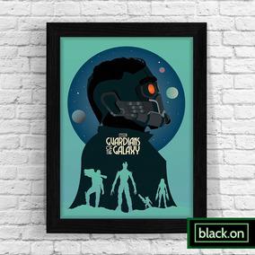 Poster Quadro Moldura Guardioes Galaxia Minimalista 30x20 #2