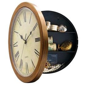 Reloj Pared Oculto Seguro Secreto Seguridad Dinero Efectivo