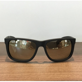 Rayban Justin Dourado Espelhado - Óculos no Mercado Livre Brasil 81060f15b6