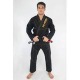 Kimono Kvra Jiu-jitsu Preto A4 + Faixa Branca