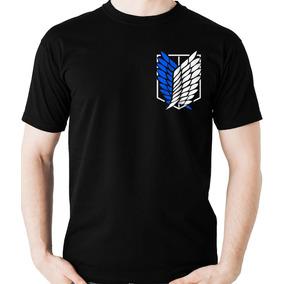 c0a79e0b8 Camiseta Shingeki No Kyojin Tropa Exploração Camisa Blusa