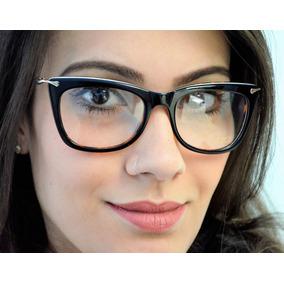 83596c04711cc Armação De Óculos De Grau Feminino Fashion Acetato E Metal