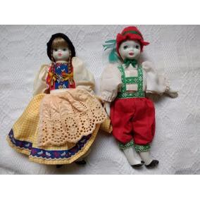 Casal Bonecos Porcelana