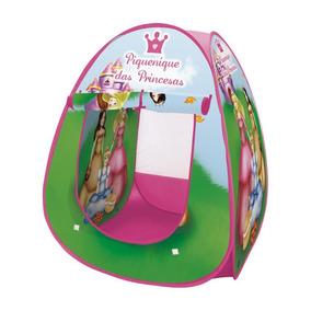 Barraca Infantil Princesas Meninas Maleta Dobrável Dm Toys