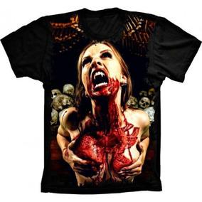 ef5b6da9a Camiseta Caveira 3d Vampira - Camisetas e Blusas no Mercado Livre Brasil