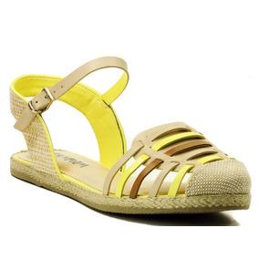 Sandália Ramarim Espadrille-amarelo