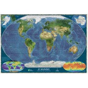 Quebra Cabeça Mundo Atlas National Geographic