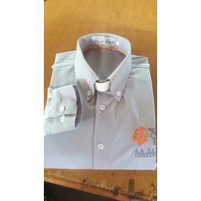 Camisa Social Uniforme Bordado - Camisa Social no Mercado Livre Brasil 7fec9686564