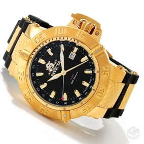 42380538068 Relógio Invicta Subaqua Noma Iii Ouro 18k Dourado Azul Preto ...