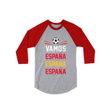 Vamos Espana - Vamos España Fútbol Fan 3 4 Camisa De Béisbol 163a92f7604