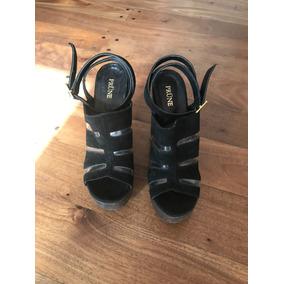 9a2bbe8e8ecdd Sandalias Prune De Cuero Doradas Plataforma Baja - Zapatos de Mujer ...