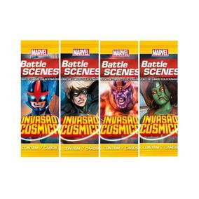 Pack De Cartas Marvel Battle Scenes Invasão Cósmica + Brinde
