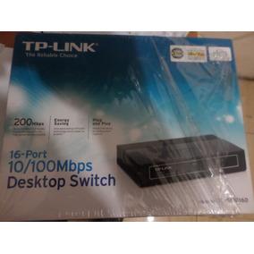 Switch 16 Puertos Tp Link 1016 1016d 10/100 Destkop Nuevo