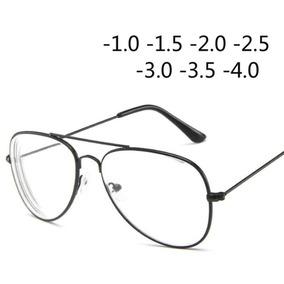 1a885cc912d78 Óculos Miopia Aviador Preto Lente Inclusa (grau -3.50)