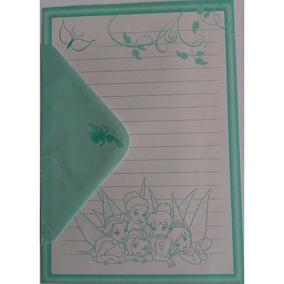 Conjunto Papel De Carta+envelope Tinker Bell Disney Lote 25