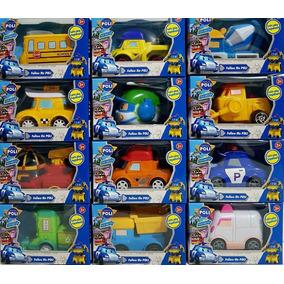 Kit Poli Robocar 12 Carrinhos Fricçao Brinquedo