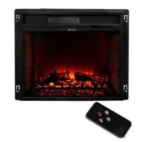 26-inch Negro Estufa Calefactor Inserto De Chimenea Eléctri